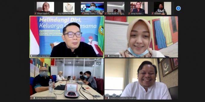 PANDI beraudiensi daring dengan Gubernur Jawa Barat Ridwan Kamil. ©2021 Merdeka.com