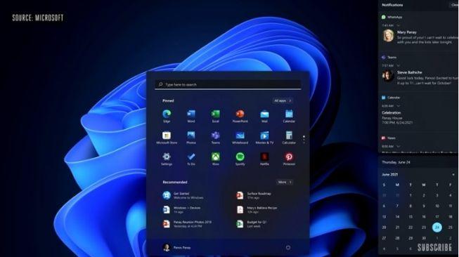 Windows 11 mode gelap dan terang yang diperbarui dan terlihat jauh lebih baik daripada yang terlihat di Windows saat ini [YouTube: Microsoft].
