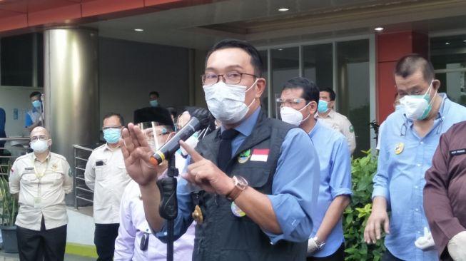 Gubernur Jawa Barat Ridwan Kamil saat melakukan kunjungan kerja