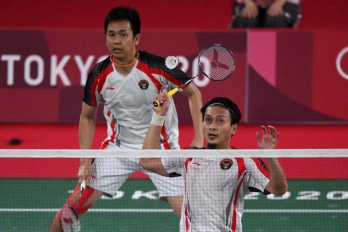 Hasil Bulutangkis Olimpiade: Hendra/Ahsan Dikalahkan Pasangan Taiwan (ANTARA FOTO)